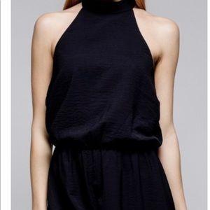 NWT Boutique Item: Black halter romper shorts